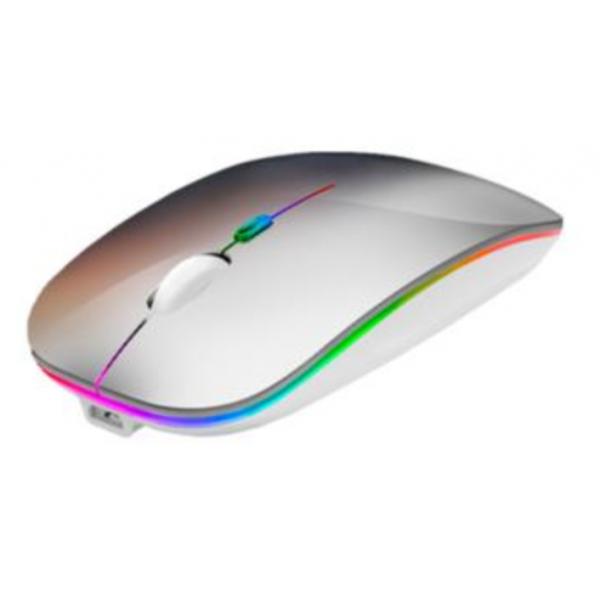 Mouse Nextep Inalámbrico Recargable Delgado/Silencioso RGB 1600 dpi